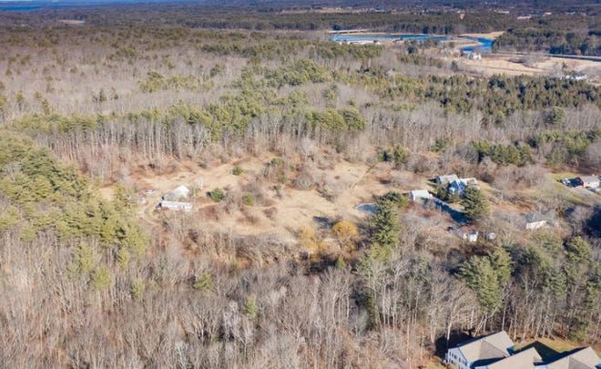 An aerial view of the Rose Farm property. The property owner is now selling a 49.95-acre portion with 35 buildable lots for $5.25 million.