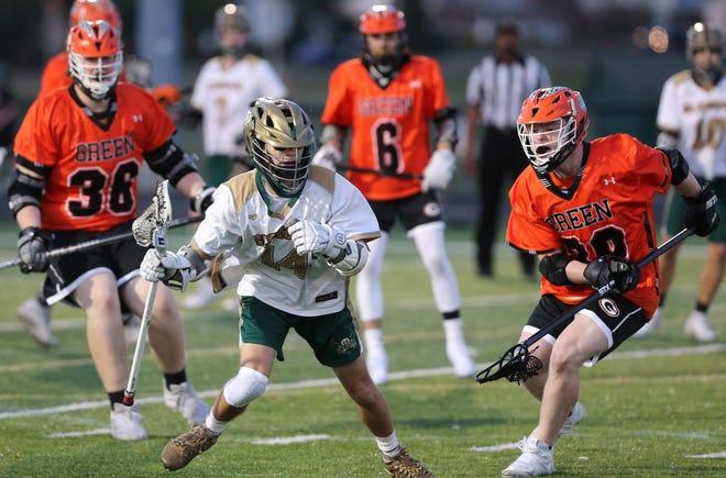 Green at GlenOak Boys Lacrosse; Wednesday, March 24, 2021.
