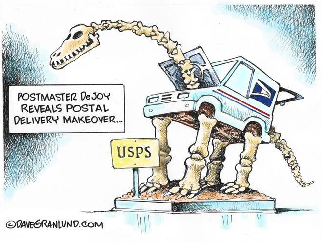 Granlund cartoon: USPS delivery makeover Dave Granlund cartoon on the U.S. Postal Service.