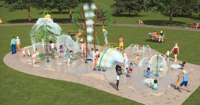 Artist's rendering of the proposed Sturgis splash pad was shown Wednesday at the city commission meeting.