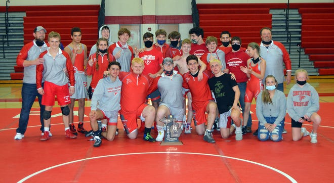The Constantine wrestling team won a regional championship on Wednesday evening.