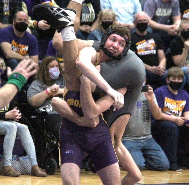 Ben Thomas Grate of Bronson beat Maddox Miller of Union City at team regionals on Wednesday.