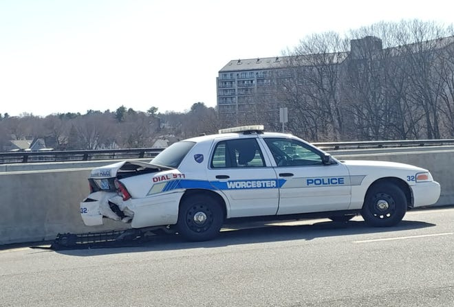 The crash occurred on the westbound side of the bridge.