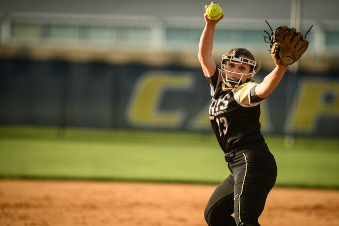 Gray's Creek pitcher Madi Bagley moved past 100 strikeouts on the season in the Bears' 3-2 win against Western Alamance on Monday.