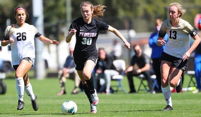 Gator freshman Beata Olsson scored both goals in Florida's 2-0 win at North Florida.