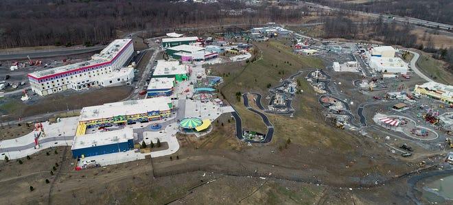 Drone image of LegoLand in Goshen on Thursday, March 25, 2021.