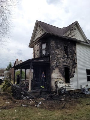 Fire damaged this house Thursday afternoon at 324 Park Ave. in Bolivar.