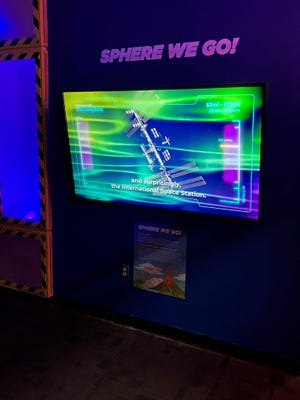 The new exhibit focuses on the four different layers that make up the spheres of Earth, including the lithosphere (or geosphere), hydrosphere, biosphere and atmosphere.