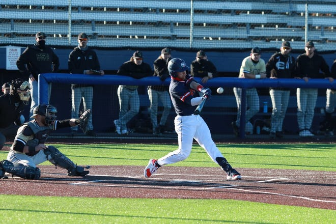 Colorado State University's Aiden Welch takes a swing during a recent game at Rawlings Field. [Courtesy photo/CSU Pueblo athletics]