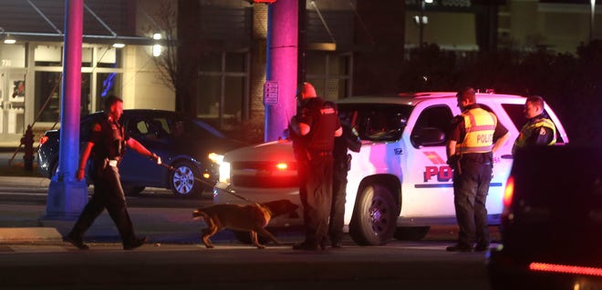 A Tuscaloosa Police officer suffered minor injuries in a multi-vehicle crash on McFarland Blvd. that resulted from a high speed chase Wednesday evening, March 24, 2021. Police took one suspect into custody. [Staff Photo/Gary Cosby Jr.]