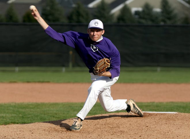 Central senior Seth Kogge delivers a pitch during a scrimmage at Worthington Kilbourne on March 24. Kogge is one of four players who were projected to start in 2020 before the season was canceled because of the COVID-19 coronavirus pandemic.