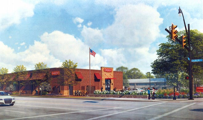 This rendering shows the building design for a new Sheetz at 144 Grandview Ave. in Grandview Heights.