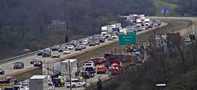 Interstate 275 was closed due to a crash March 25, 2021.