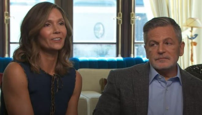 """From left: Jennifer and Dan Gilbert speak on """"CBS This Morning"""" on Thursday, March 25, 2021."""