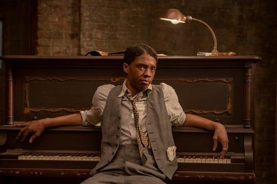 "Chadwick Boseman as Levee in ""Ma Rainey's Black Bottom."""