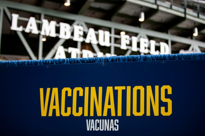 The Lambeau Field Atrium served as a COVID vaccination clinic this spring.