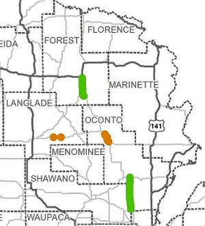 This map shows the road construction projects in northeast Wisconsin that were moved ahead of schedule after the Department of Transportation received more than $147 million in COVID relief funds from the federal government.