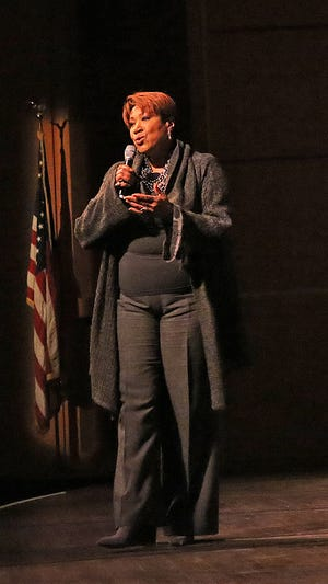 Cassandra McShepard, shown singing the national anthem at the King Day celebration at he Marcus Performing Arts Center in 2015, has joined WTMJ-TV (Channel 4).