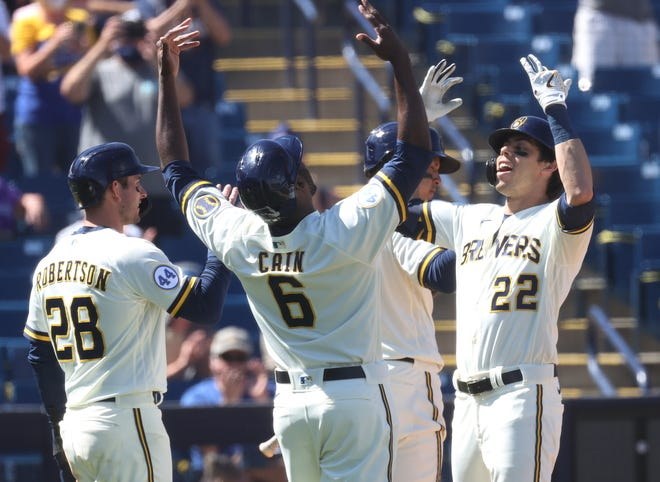 The Brewers activated Lorenzo Cain and Christian Yelich off the injured list Monday and both were in the starting lineup against the Phillies.