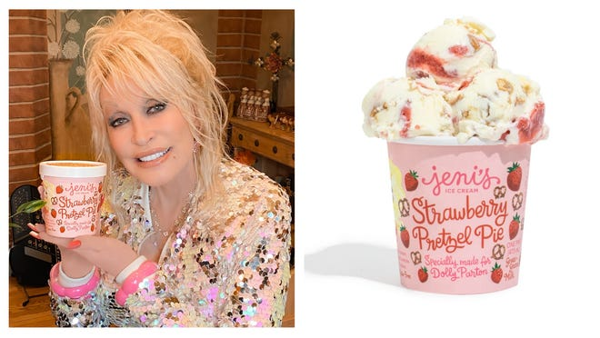 Dolly Parton has her own flavor of Jeni's Ice Cream, and proceeds will benefit her Imagination Library.