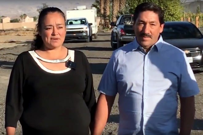 Members of the Inland Equity Community Land Trust project launched a fundraiser to help Coachella couple Anabel and Jesus, who had lost their home.
