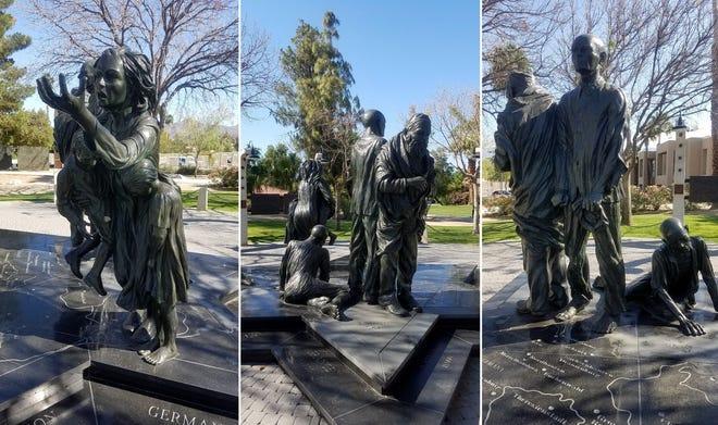 The Desert Holocaust Memorial is located in Palm Desert's Civic Center Park.