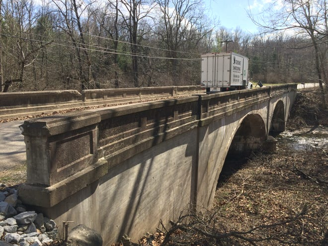 The Esteb Road bridge over Elkhorn Creek is one of three bridges to be replaced by Brumbaugh Construction during an upcoming bridge project.