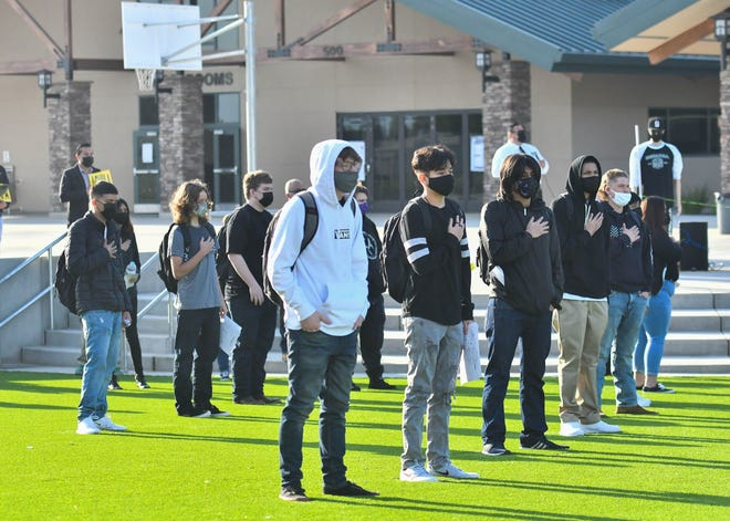 Sequoia High School welcomed students for in-person classes for the first time at its brand new campus on Thursday, March 25, 2021.