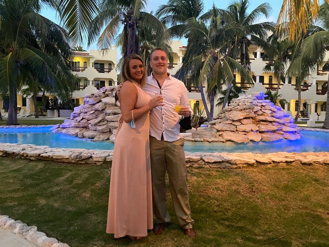 Alisha and Korey Mudd on their honeymoon in Riviera Maya, Mexico, near Cancun.
