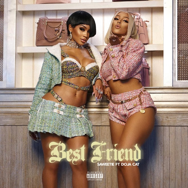 """Saweetie and Doja Cat collaborate on the single """"Best Friend."""""""