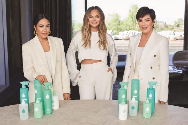 Safely is a collaboration between Emma Grede, far left, Chrissy Teigen and Jenner.
