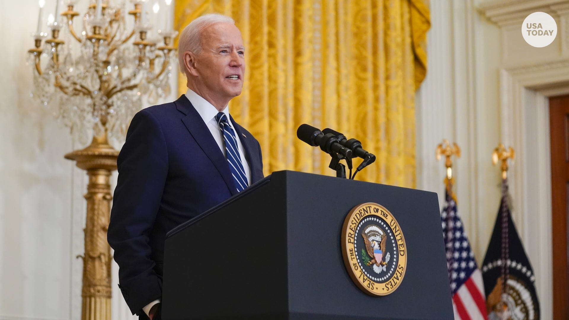 President Biden talks immigration, COVID-19 vaccinations and another White House run
