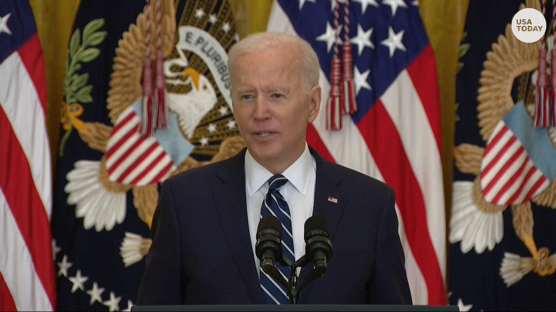 President Biden calls the situation at border facilities 'totally unacceptable'