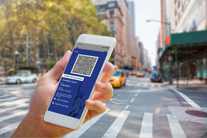 New York is rolling out the country's first COVID test/vaccination pass app.