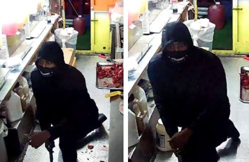 Austin police on Friday said the man in the photo above is accused of robbing a North Austin food truck employee at gunpoint.