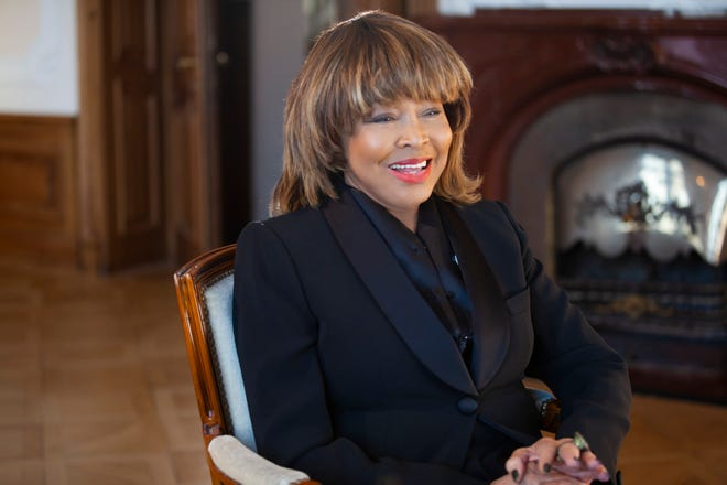 """This image released by HBO shows Tina Turner in a scene from the documentary """"Tina,"""" premiering March 27 on HBO Max."""
