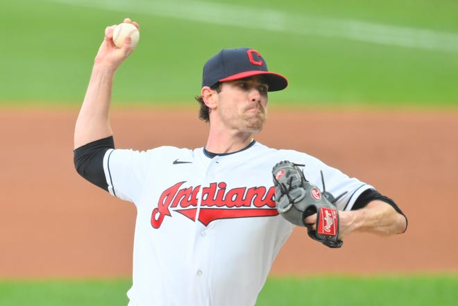 Shane Bieber was the Cy Young Award winner in 2020, and he return as the leader of Cleveland's pitching staff.