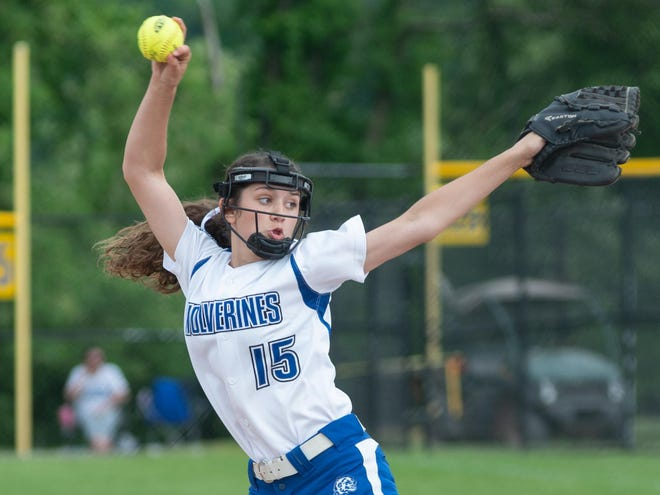 Ellwood City pitcher and infielder Angie Nardone, seen here as a freshman during the 2019 season, is suddenly one of the more experienced players on the team, a shift from the last time the Wolverines took the field.