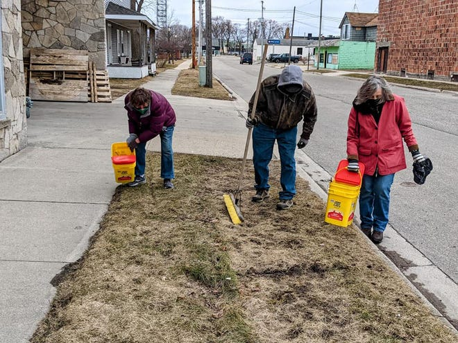 A group of 22 adults and two children turned out to help clean up the City of Cheboygan and get it ready for spring as part of the DDA-Main Street group's Clean Sweep Cheboygan program.