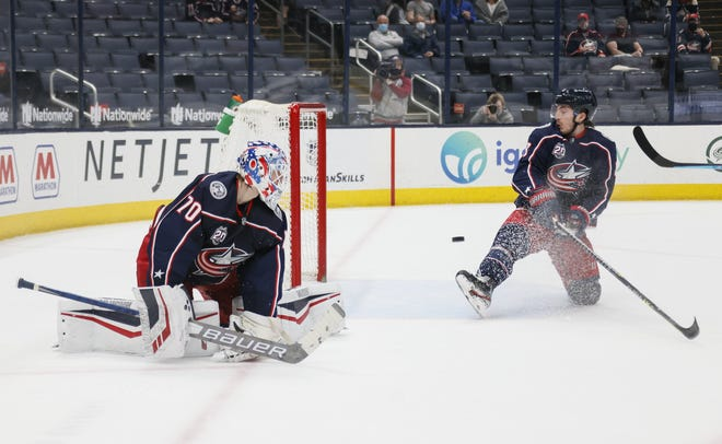 The Blue Jackets gained a valuable point Thursday when they scored late in regulation to force overtime against Carolina, but did they give up an important point in OT by not hustling to prevent Sebastian Aho's goal past Joonas Korpisalo and Zach Werenski?