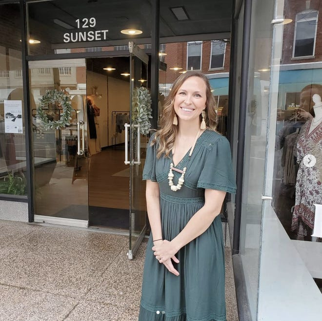 Owner Brittiany Byrd stands outside her downtown boutique Harper Jewel Boutique.