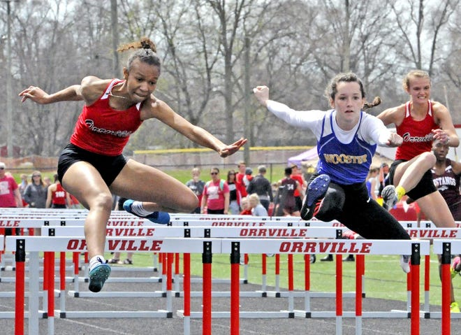Orrville's Daysia Hargrave (left) will be one of the best hurdlers in the state as a senior after a pair of All-Ohio finishes at the 2019 state championships.