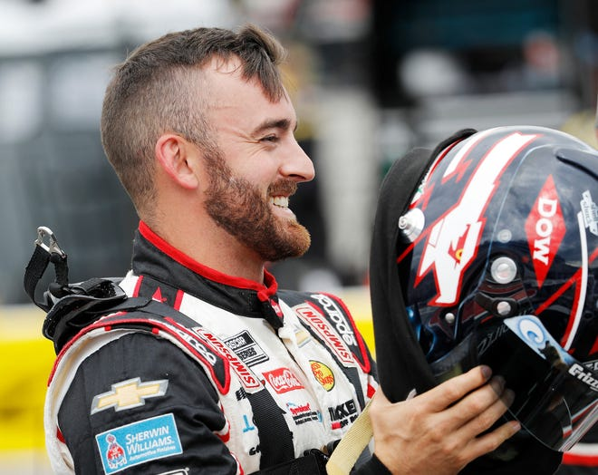 Austin Dillon rates a favorite to win the dirt track race at Bristol on Saturday. [Andrew Coppley/HHP for Chevy Racing]