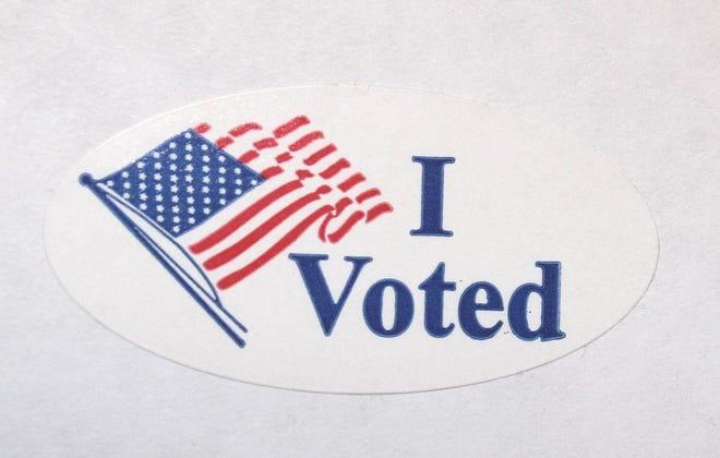 """ I Voted"" sticker."
