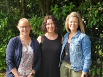 Vicki Mestas (from left), Amanda Bussey and Brooke Davies are the founding members of 100+ Women Who Care About Clay, a newly formed philanthropy.