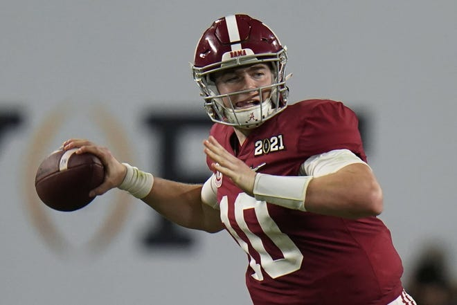 With the Miami Dolphins shaking up the NFL Draft order Friday by making two blockbuster trades, the ripple effect could end up financially benefitting Alabama quarterback Mac Jones, a product of The Bolles School.