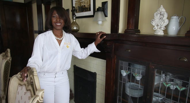 Owner Melanie Graham poses for a photo inside Morgan and Wells Bed and Breakfast on North Morgan Street in Shelby.