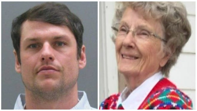 Ryan McRae Cubbage, 34, was arraigned this week on three felony charges related to a hit-and-run crash which killed Jean Beaty, 88, in June.