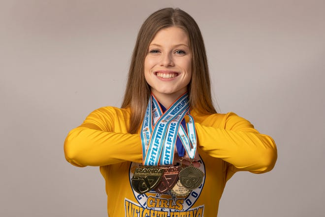 Auburndale senior Emily Hart won the first state title in girls weightlifting in Polk County history.