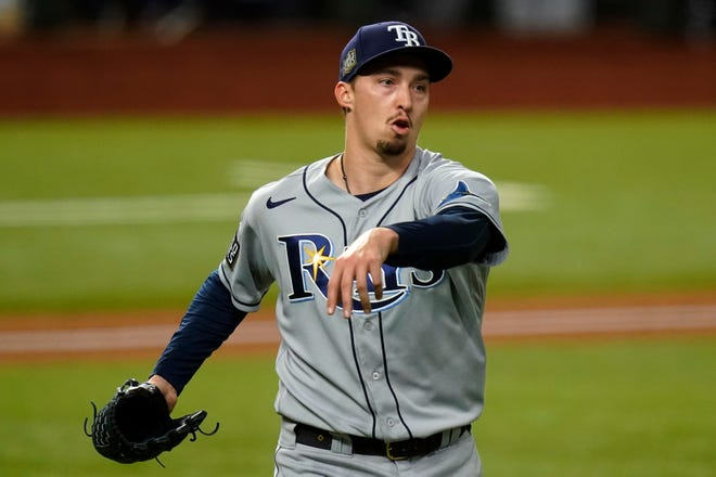 Blake Snell was one of the bigger name players traded in the offseason going from Tampa Bay to San Diego.